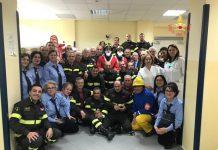 Babbo Natale dei Vigili del fuoco a Oncologia pediatrica