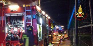 Incendio in uno edificio a Reggio Emilia