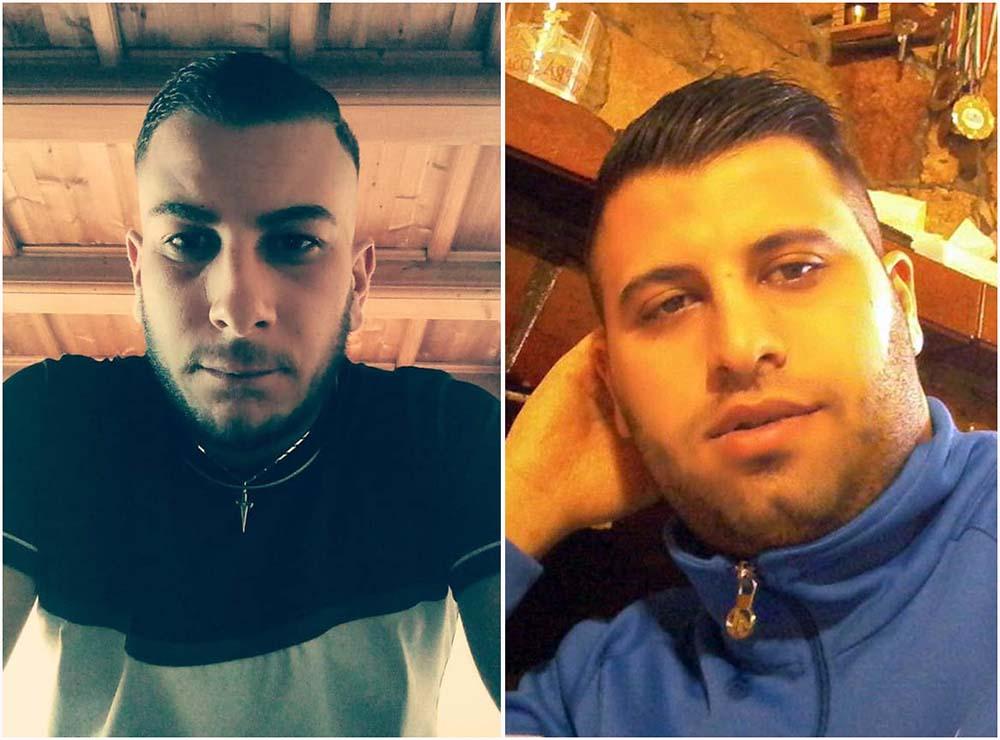 Da sinistra la vittima Antonio Barbieri e il presunto assassino Cristian Filadoro