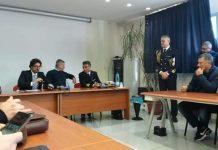 Il ministro Danilo Toninelli incontra lavoratori e sindacati al porto di Gioia Tauro.