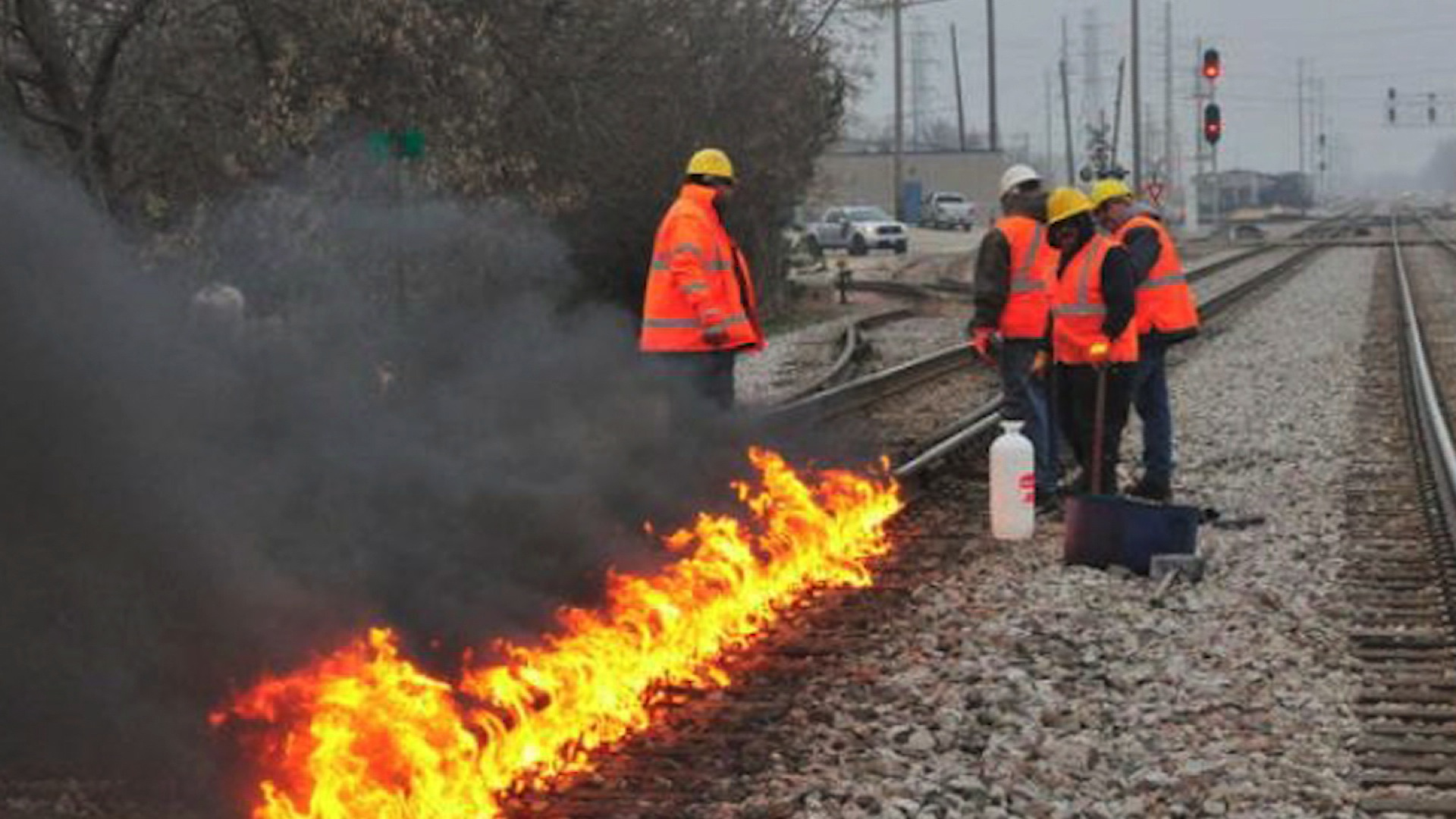 Train Track Fires