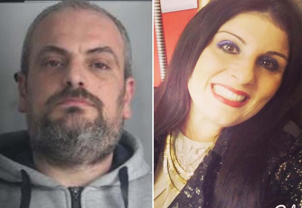 Da sinistra Ciro Russo e la vittima Maria Antonietta Rositani