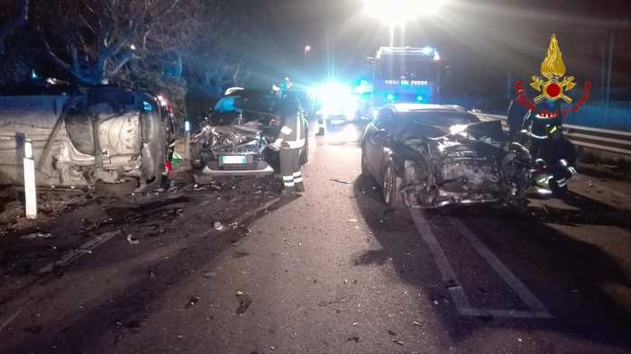 La scena dell'incidente mortale a Porto Recanati