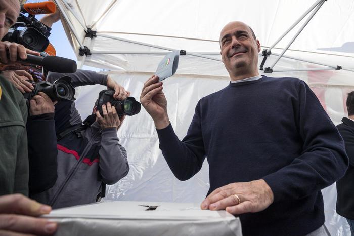 Nicola Zingaretti al voto