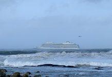 La nave Viking Sky alle deriva nel mare norvegese
