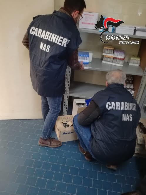 Carabinieri del Nas nei controlli all'ospedale di Serra San Bruno
