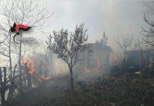 incendio casolare casa