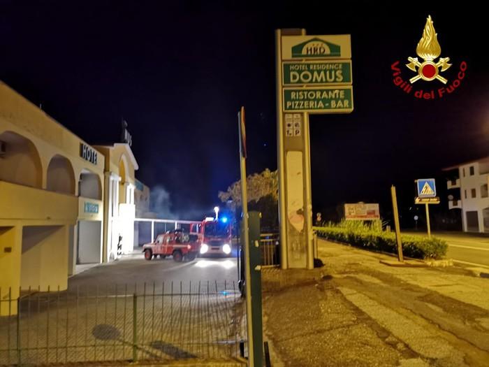 Incendio hotel domus santa maria del cedro