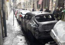 incendio auto reggio