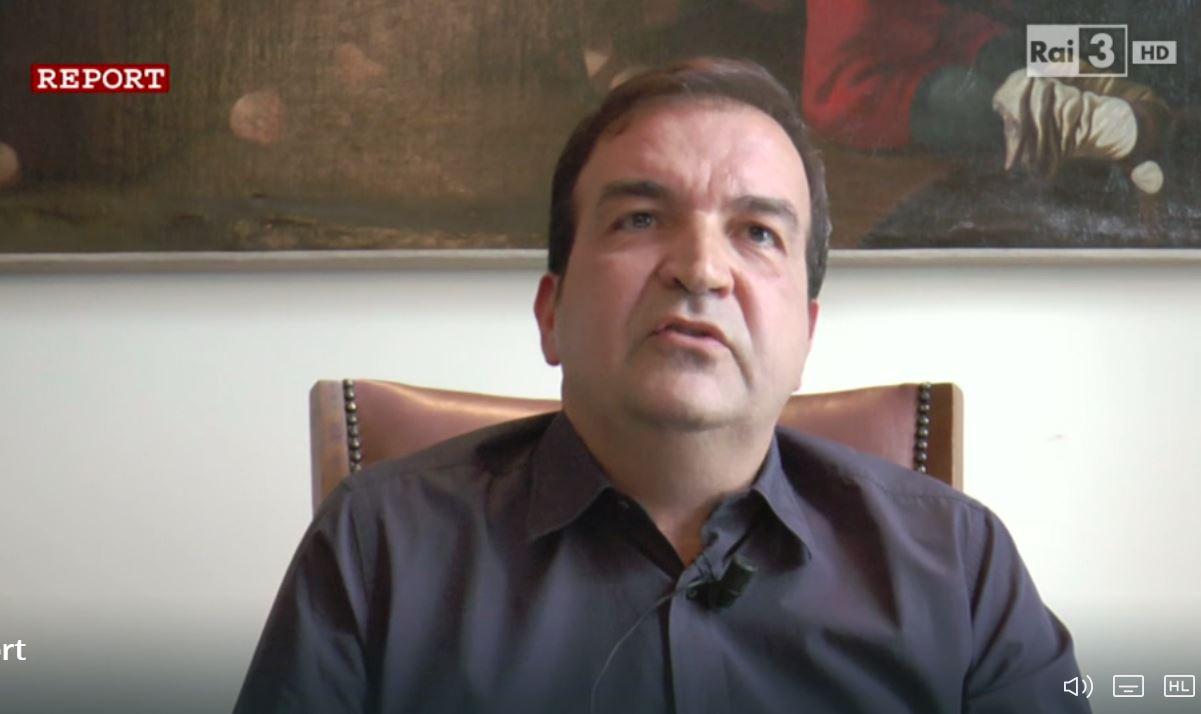Mario Occhiuto in un frame di Report