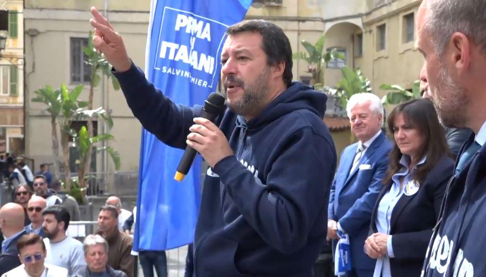 Salvini comizio Sanremo
