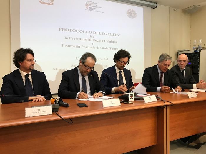 Gioia Tauro, Firma protocollo legalità