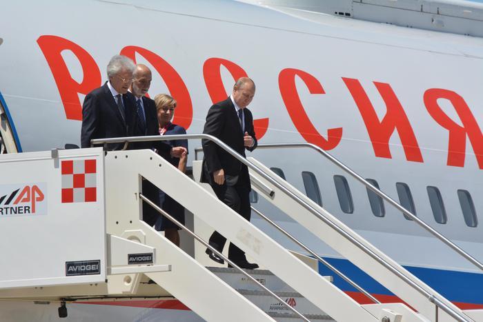 Putin è arrivato a Roma, vedrà papa, Mattarella e Conte