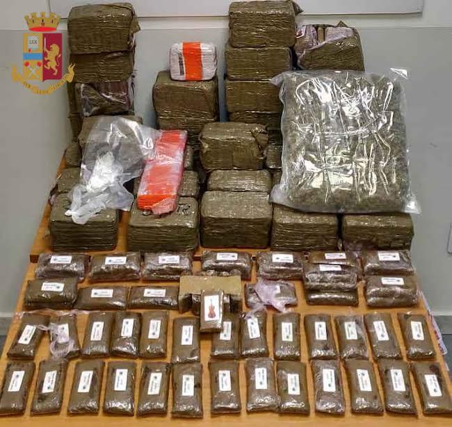 Trovato a Roma con oltre 43 chili di droga, arrestato corriere incensurato