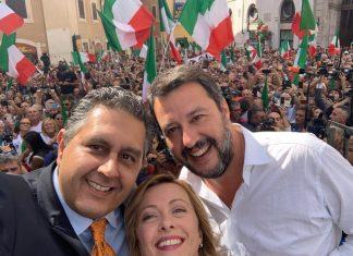 Fiducia al Governo, Lega e FdI in piazza contro il governo delle poltrone