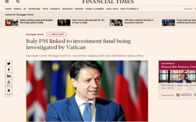 Financial Times: Conte lavorò su fondo poi indagato dal Vaticano