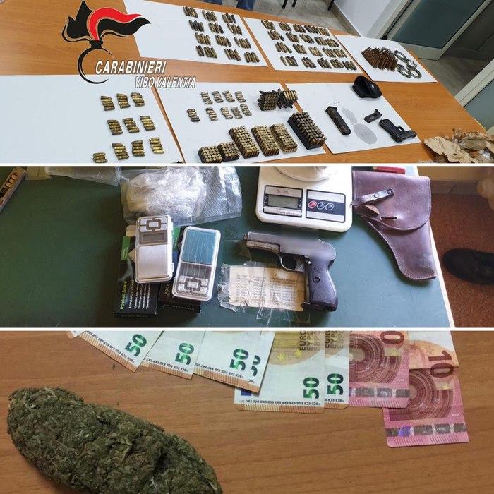 Trovate armi, munizioni e droga a Limbadi